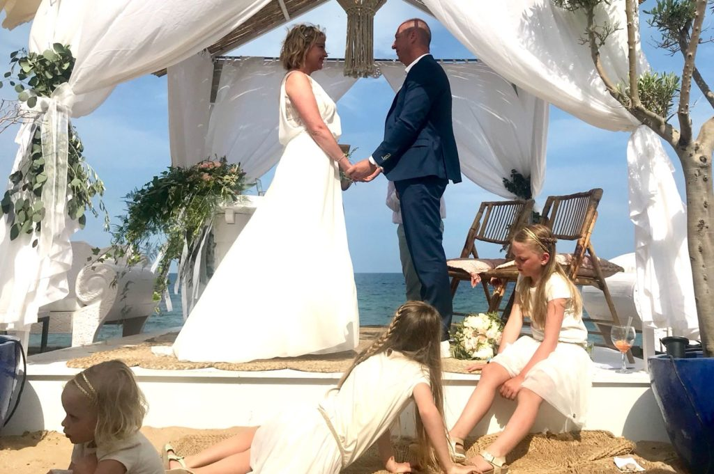 K&B · beach Wedding