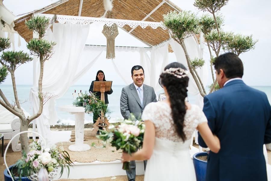 L&J · boda de playa