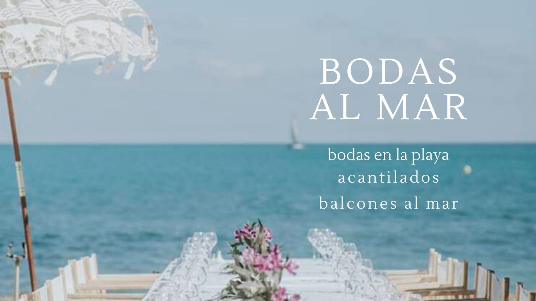 Wedding Planner Madrid bodas en la playa